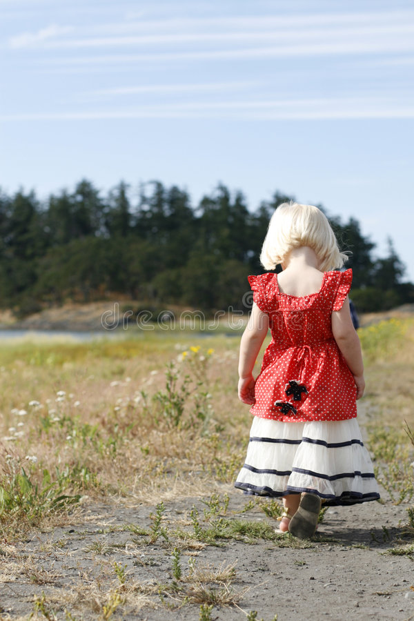Little Country Girl stock image