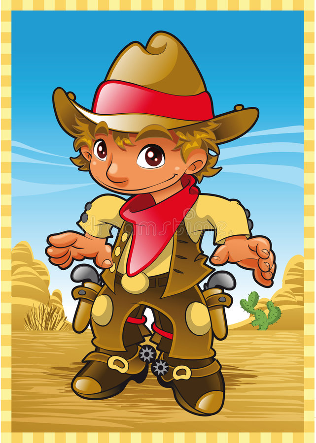Little Cow Boy stock illustration
