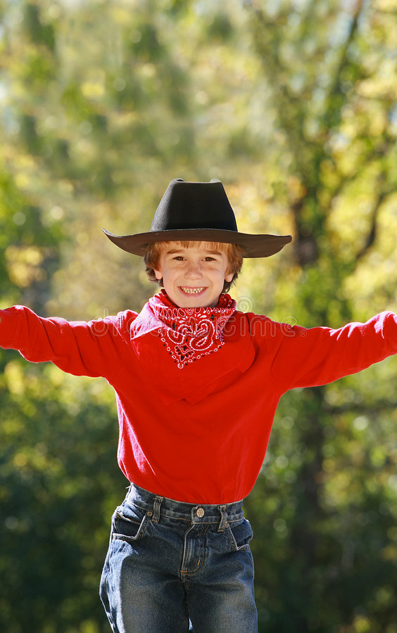 Download Little Cowboy stock photo. Image of hats, caucasian, grinning - 3475744