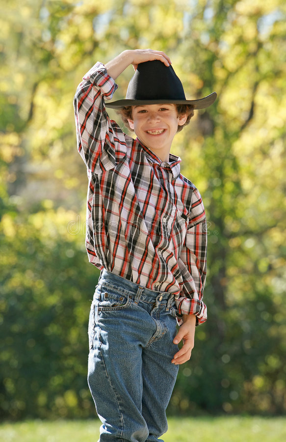 Download Little Cowboy stock image. Image of childhood, emotion - 3549061