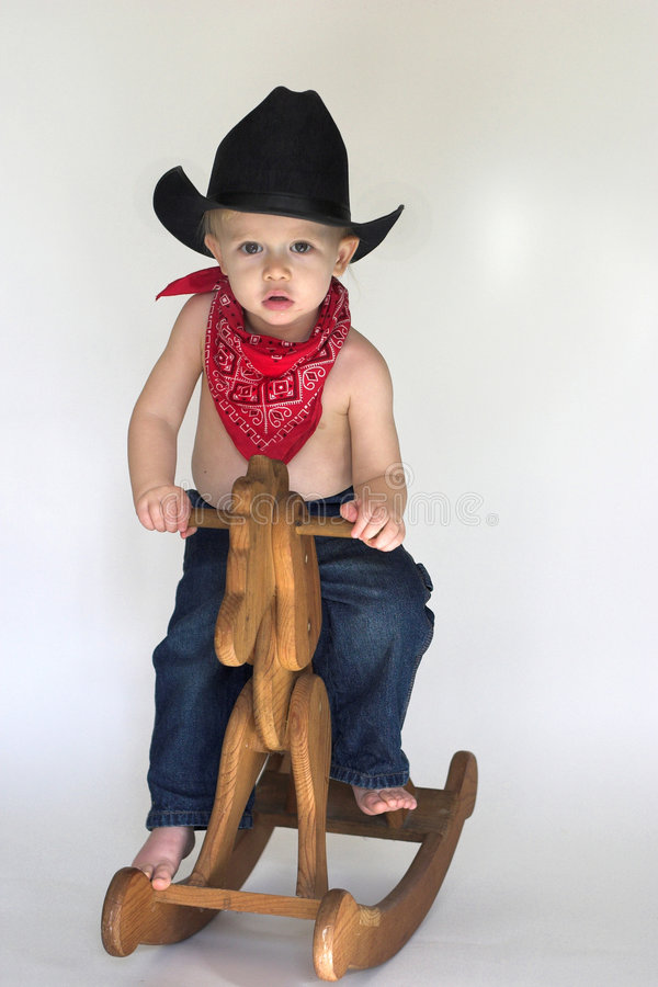 Free Little Cowboy Royalty Free Stock Image - 3757486