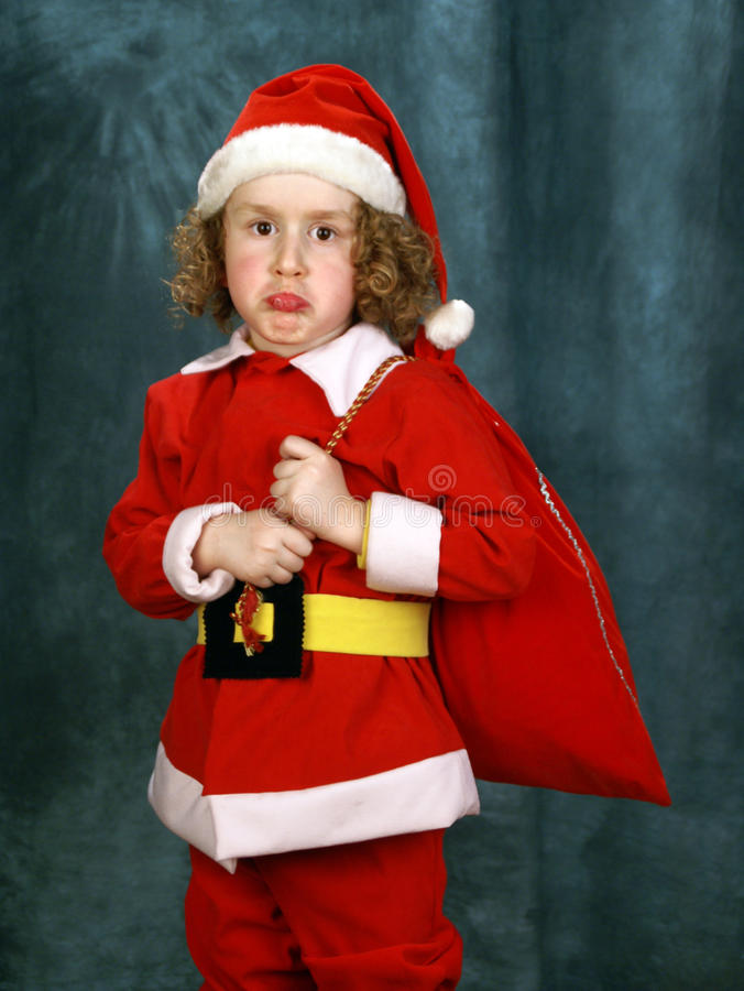 Download Little Curly Santa stock image. Image of holiday, kids - 18469679