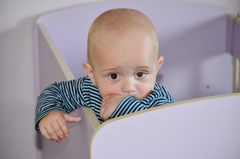 Little cute baby boy royalty free stock images