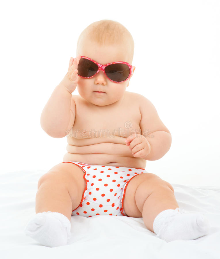 Little cute baby stock image