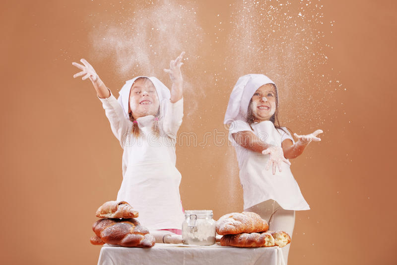 Download Little cute bakers stock photo. Image of elementary, cute - 16914744