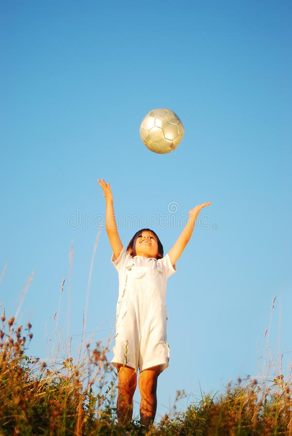 Download Little cute boy with ball stock photo. Image of blue - 10353964