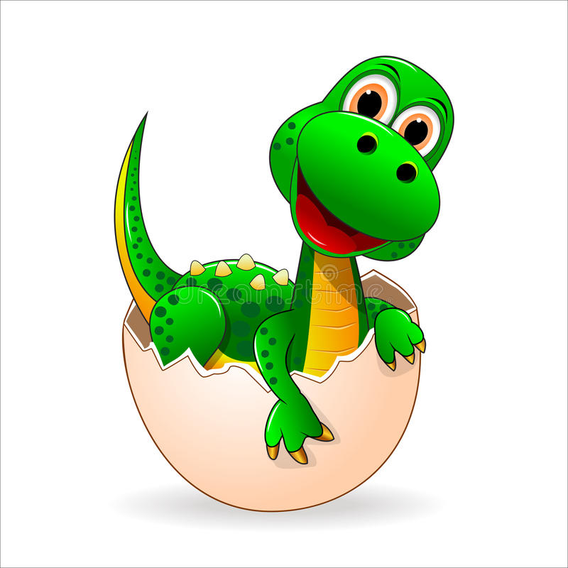 Little cute dinosaur vector illustration