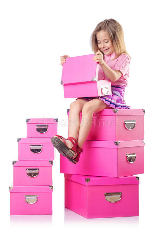 Download Little cute girl stock image. Image of girl, year, present - 28031291