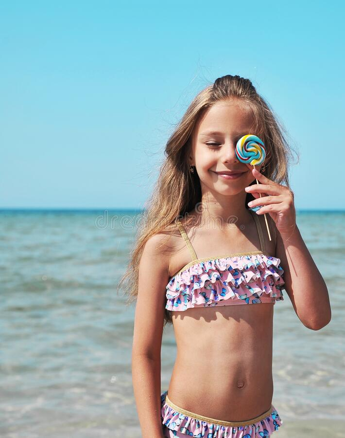 Free Little Cute Has Fun On The Beach. Royalty Free Stock Image - 171611126