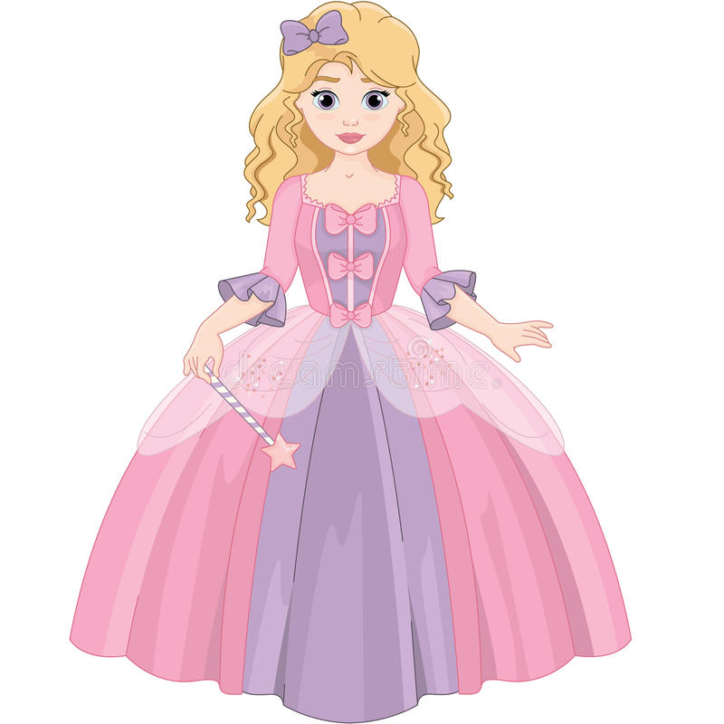 Little Cute Magic Beautiful Princess stock photos