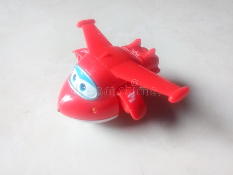 A little cute plane going to take off royalty free stock image