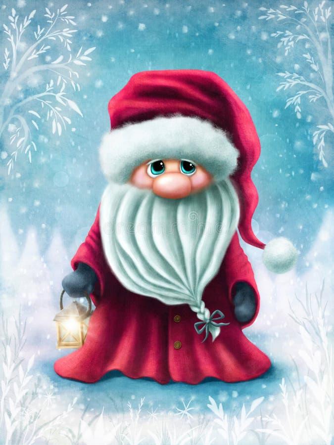 Little cute santa stock illustration