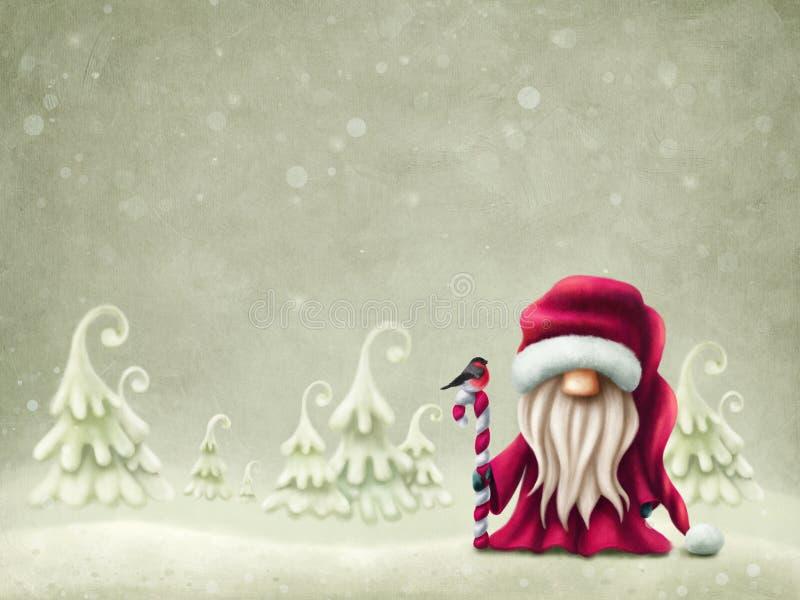 Little cute santa royalty free illustration