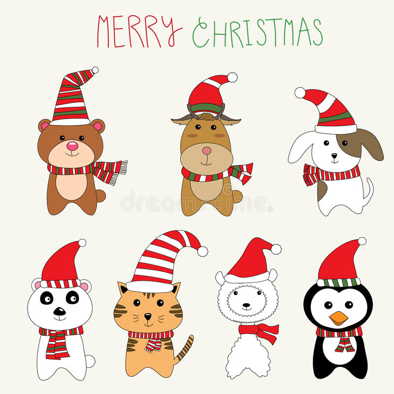 Free Little Cute Small Animal Dog,alpaca,bear,reindeer,cat Royalty Free Stock Photos - 62021838