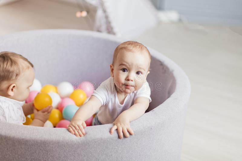 Baby In A Ball Pit Stock Photo Image Of Baby Child
