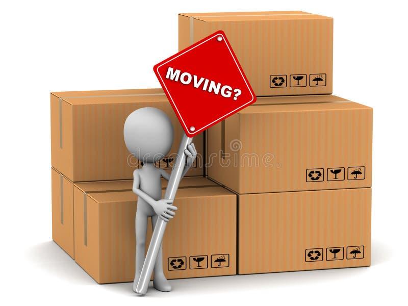 Moving vector illustration