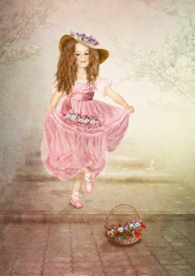 Download Little Dancer stock illustration. Illustration of nature - 34724871