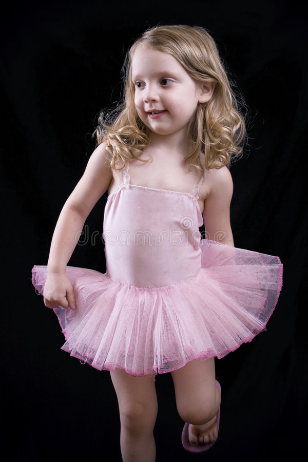 Little dancing girl stock photos