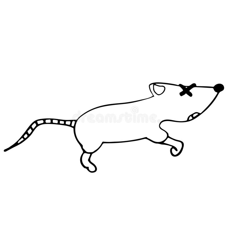 Free Little Dead Mouse. Isolated Outline  Illustration Stock Photo - 163072950