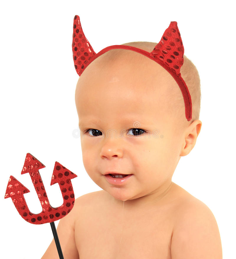 Download Little devil stock image. Image of parenting, isolated - 21799959