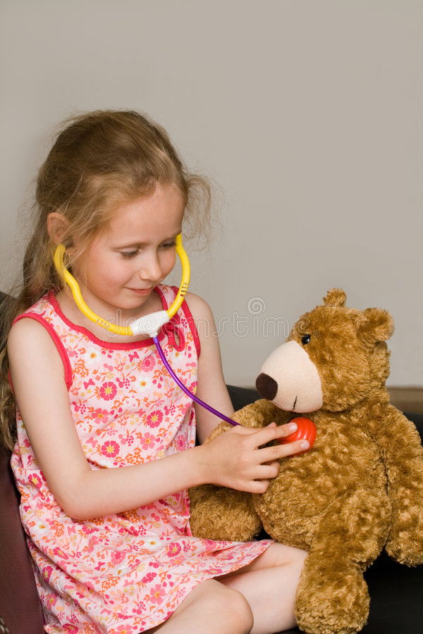 Download Little doctor stock image. Image of play, hospital, childhood - 2537059