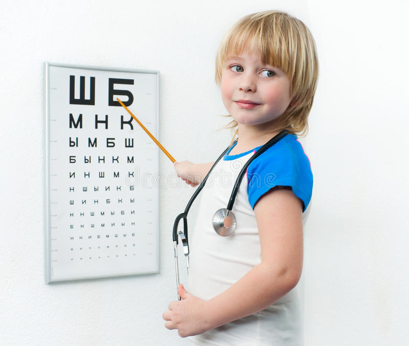 Download Little doctor stock image. Image of ophthalmologist, oculist - 29590765
