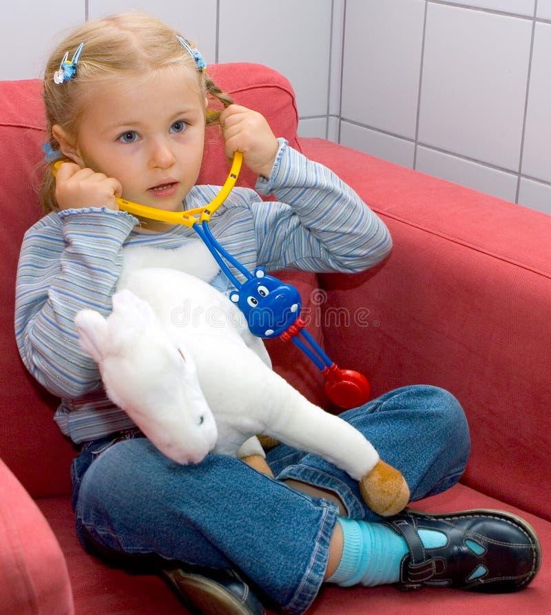 Little doctor stock image