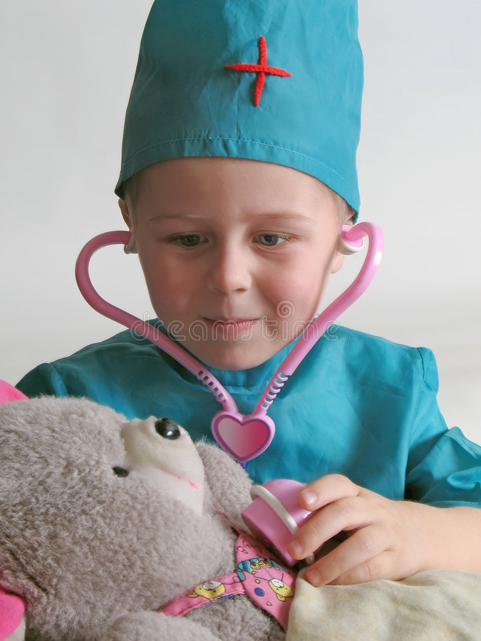 Download Little doctor stock photo. Image of healthcare, listening - 4086596