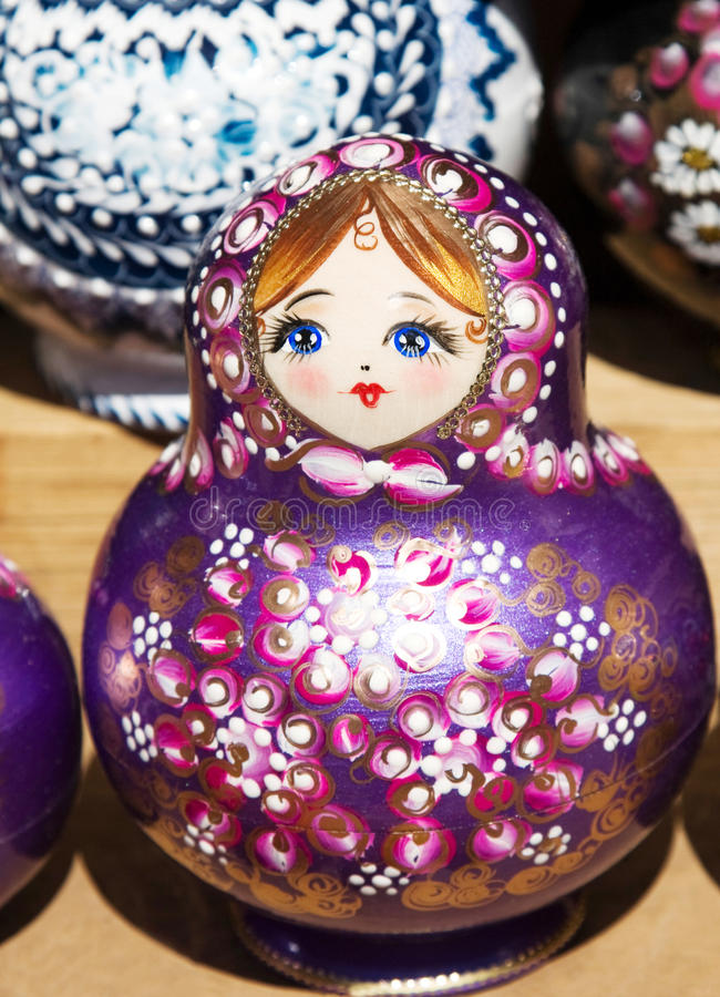 Little doll called matrioska stock images