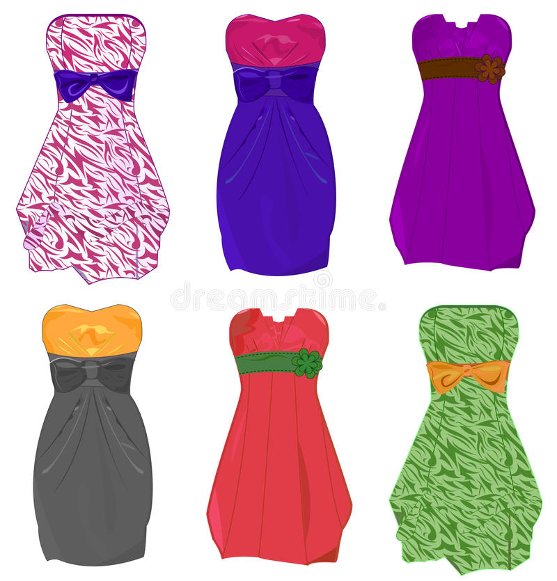 Download Little dresses stock vector. Image of dress, clothes - 12832998