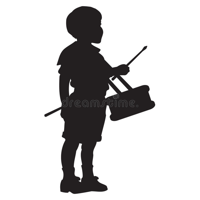 Little Drummer Boy Silhouette Stock Vector - Illustration of black ...