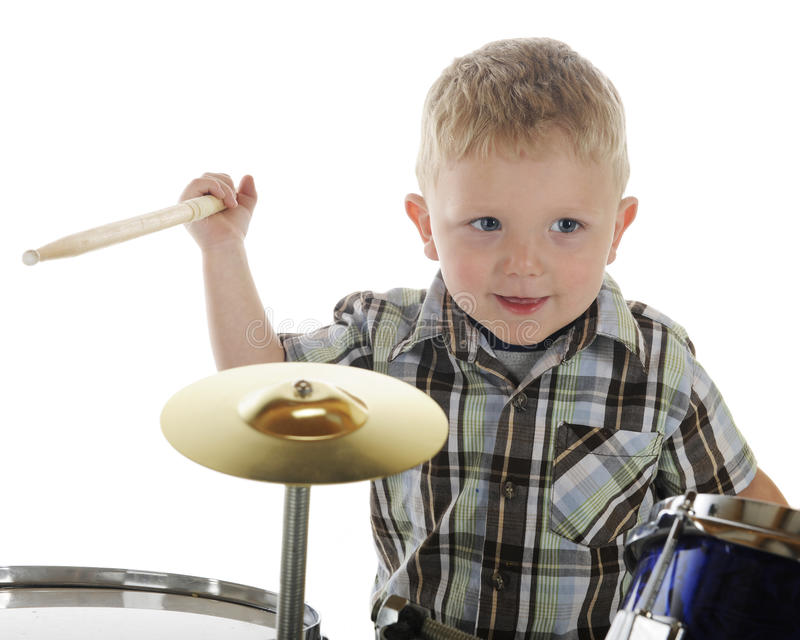 Download Little Drummer Closeup stock photo. Image of drum, smile - 25072820