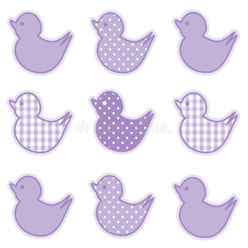 Download Little Duckies, Pastel Lavender Stock Vector - Image: 15715056