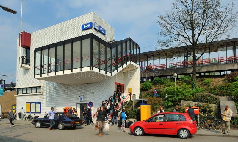 Little Dutch train station. A Little Dutch train station in Zaltbommel, the netherlands stock images