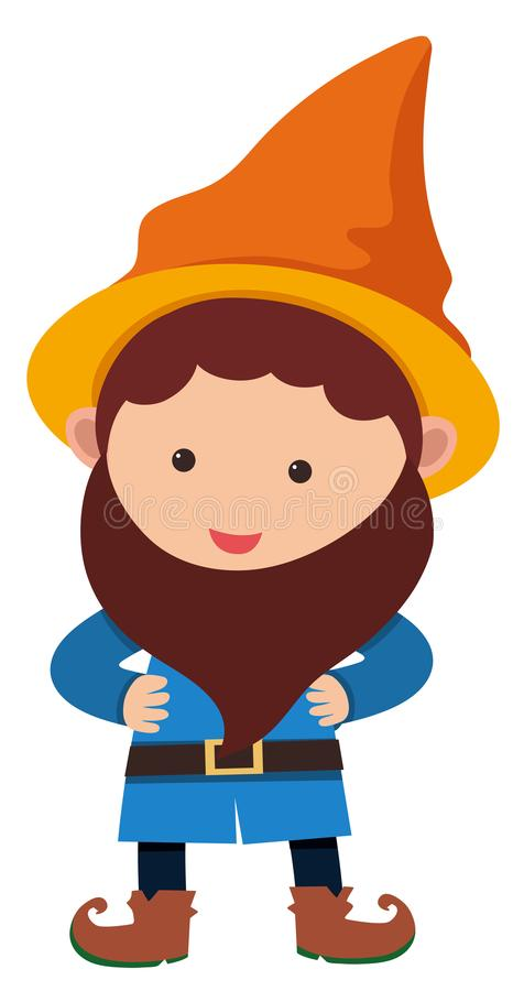 Little dwarf with orange hat royalty free illustration