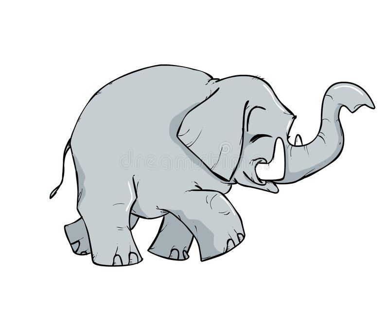 Download Little elephant cartoon stock illustration. Image of cute - 1454586