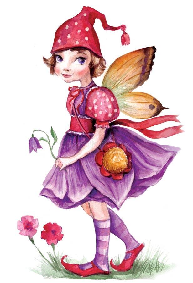 Download Little elf girl stock illustration. Image of fancy, butterfly - 6957116