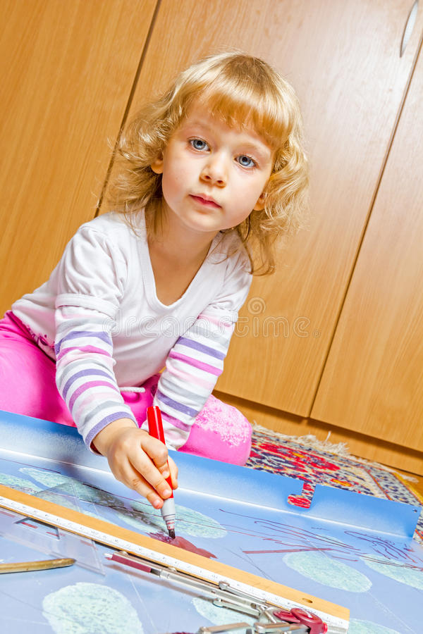 Little engineer, architect royalty free stock images