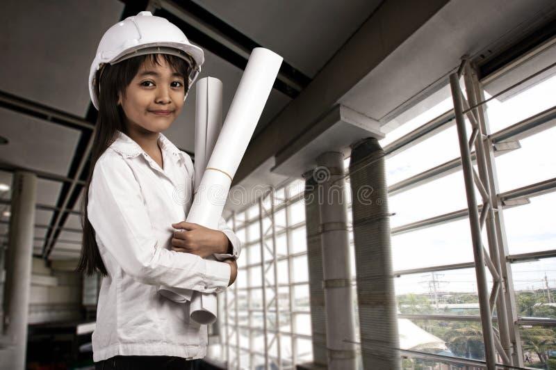 Little engineer stock photography