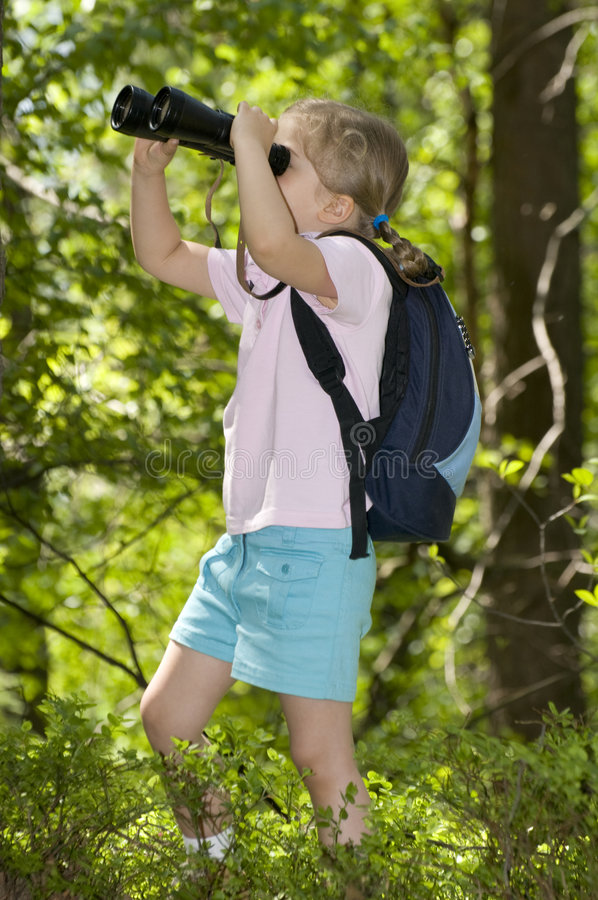 Little explorer royalty free stock images