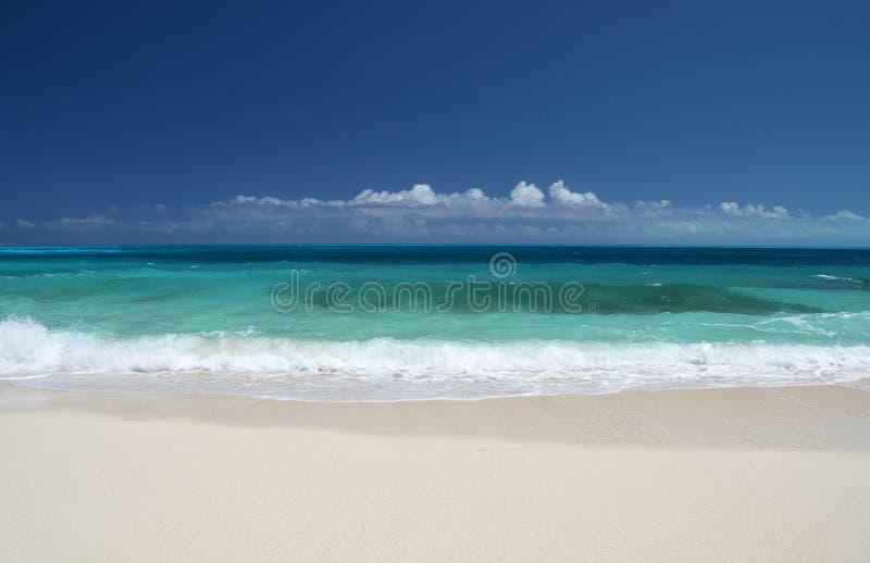 Little Exuma, Bahamas. A desert beach of Little Exuma, Bahamas royalty free stock images