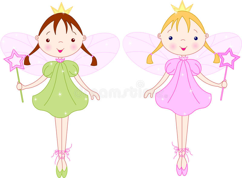 Download Little fairies stock vector. Image of greeting, cute - 10051888