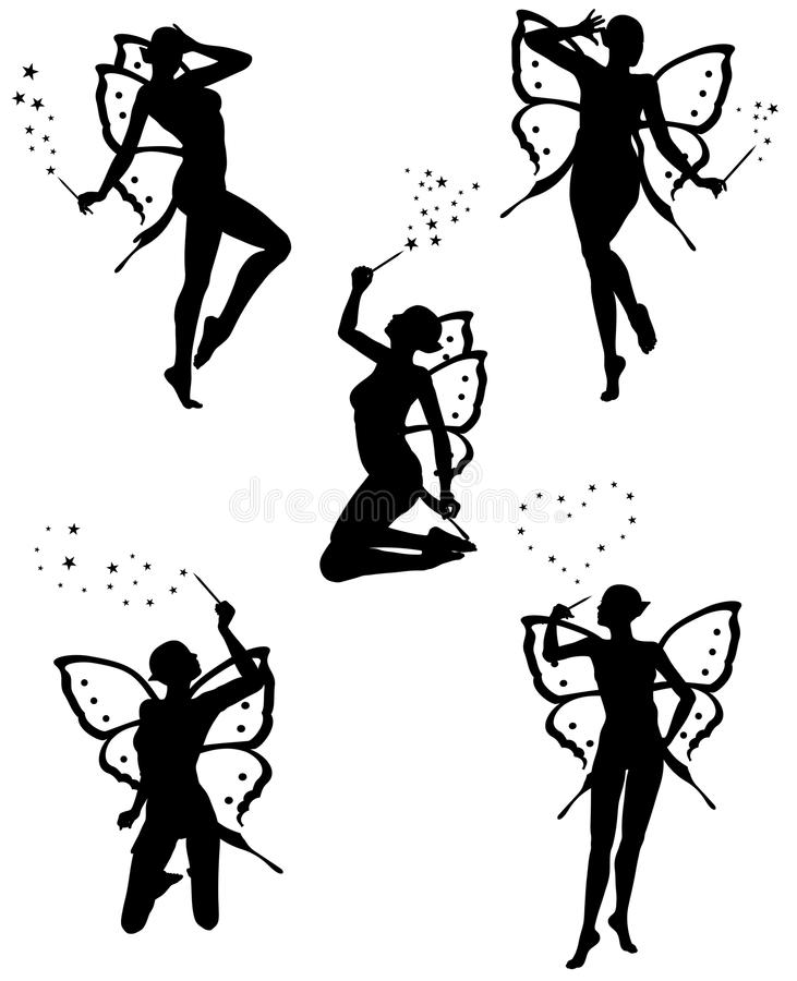 Download Little fairy stock vector. Image of body, creature, mystery - 10313504