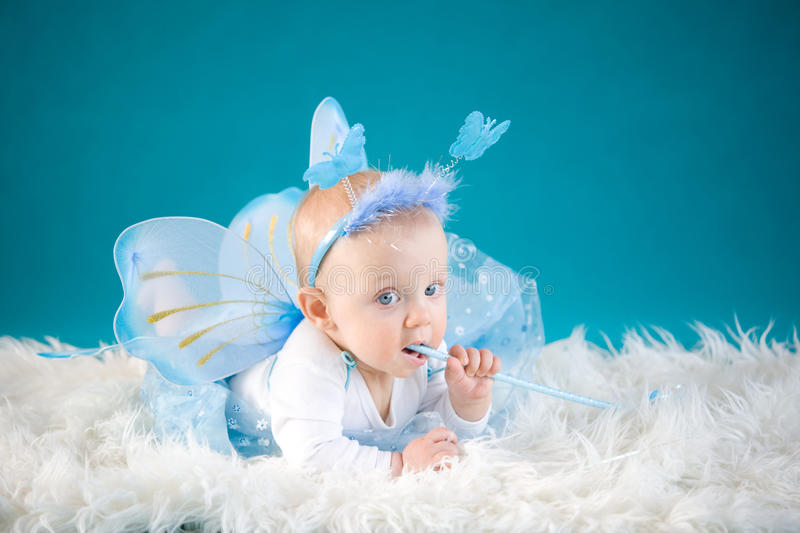 Download Little fairy stock photo. Image of costume, cute, small - 28392580