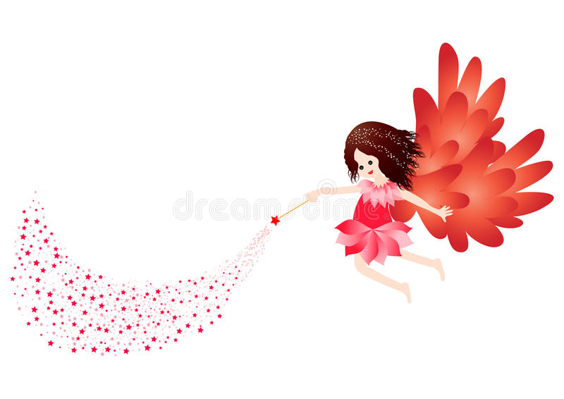 Little fairy stock illustration
