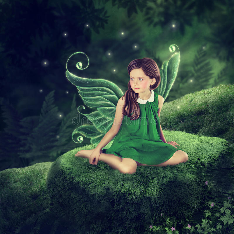 Little fairy girl stock images