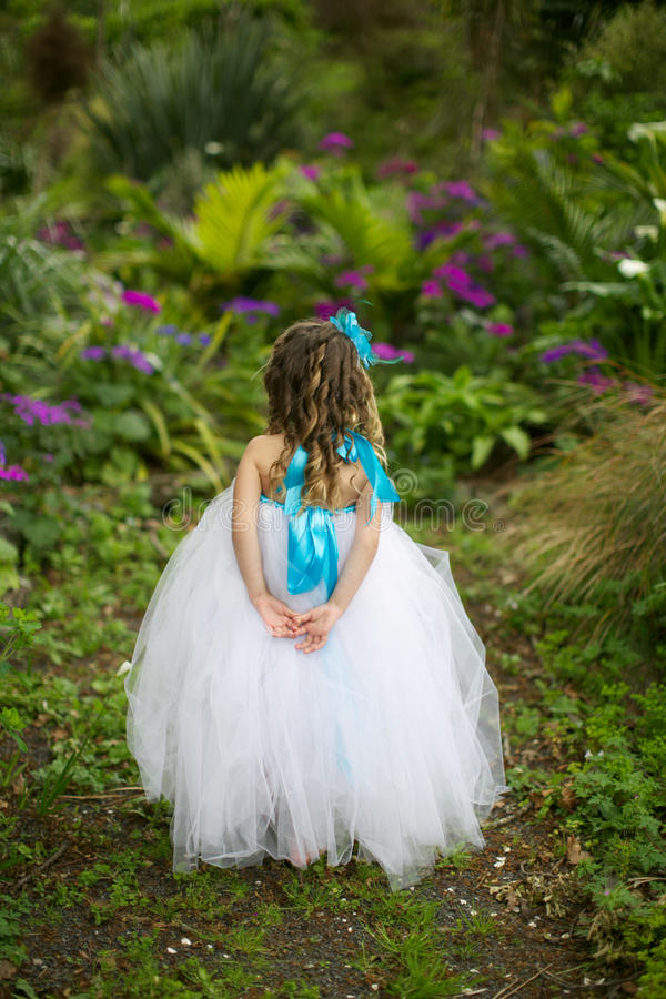 Little fairy in a tutu. royalty free stock photography