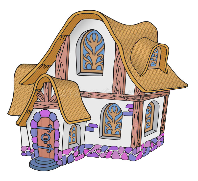 Little fairytale house stock photography