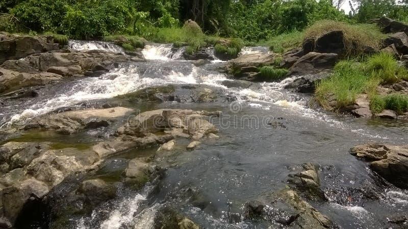 Little Falls chez Kribi (lobé) photo libre de droits