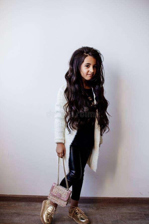 Little fashion girl. stock photo